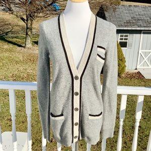 Gray Cardigan Sweater from J Crew